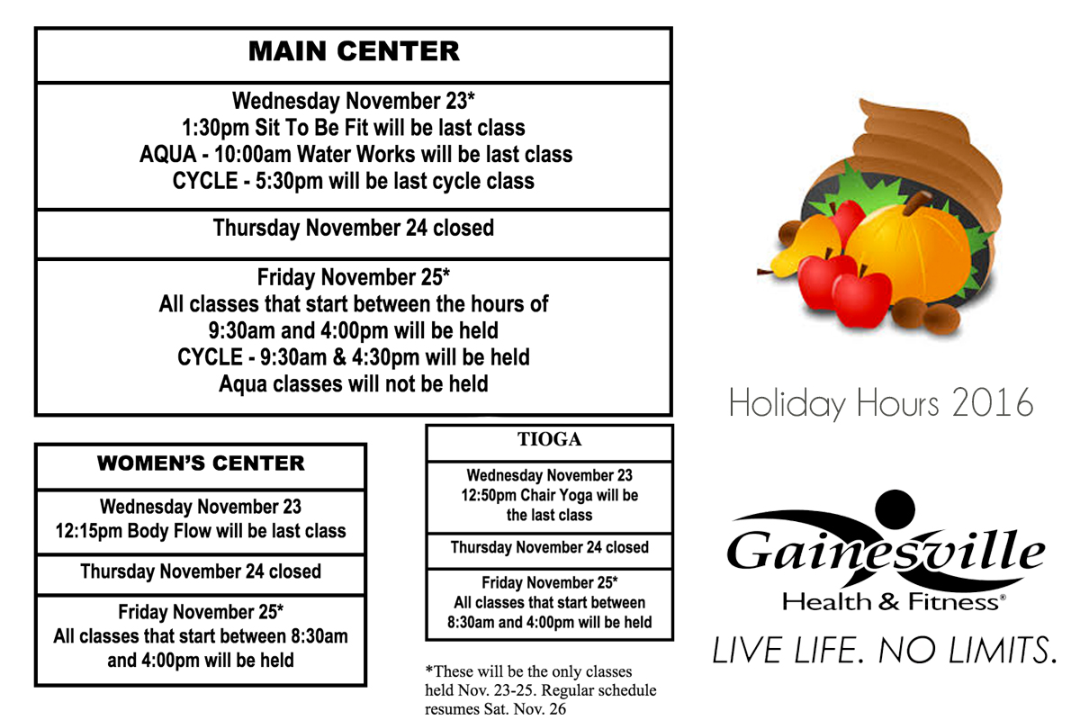 GHF Thanksgiving Hours Group Ex