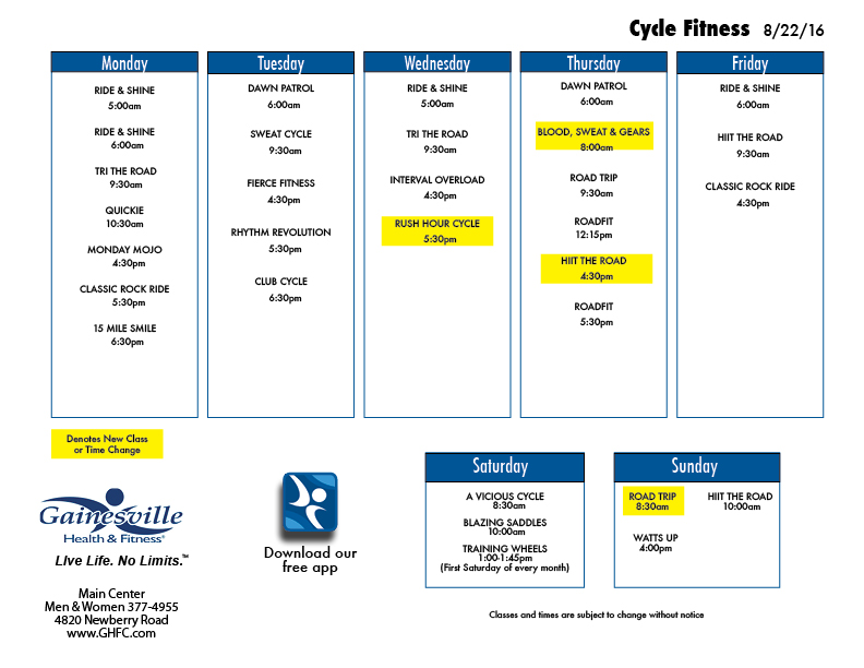 Cycle Classes for Fall