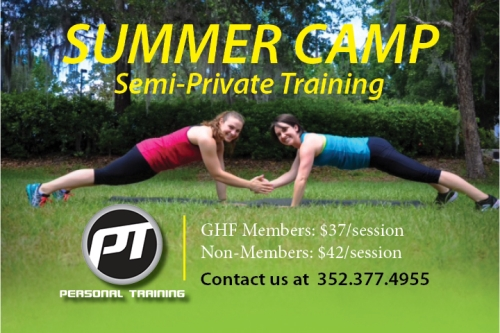 summer camp at GHF featuring semi-private training