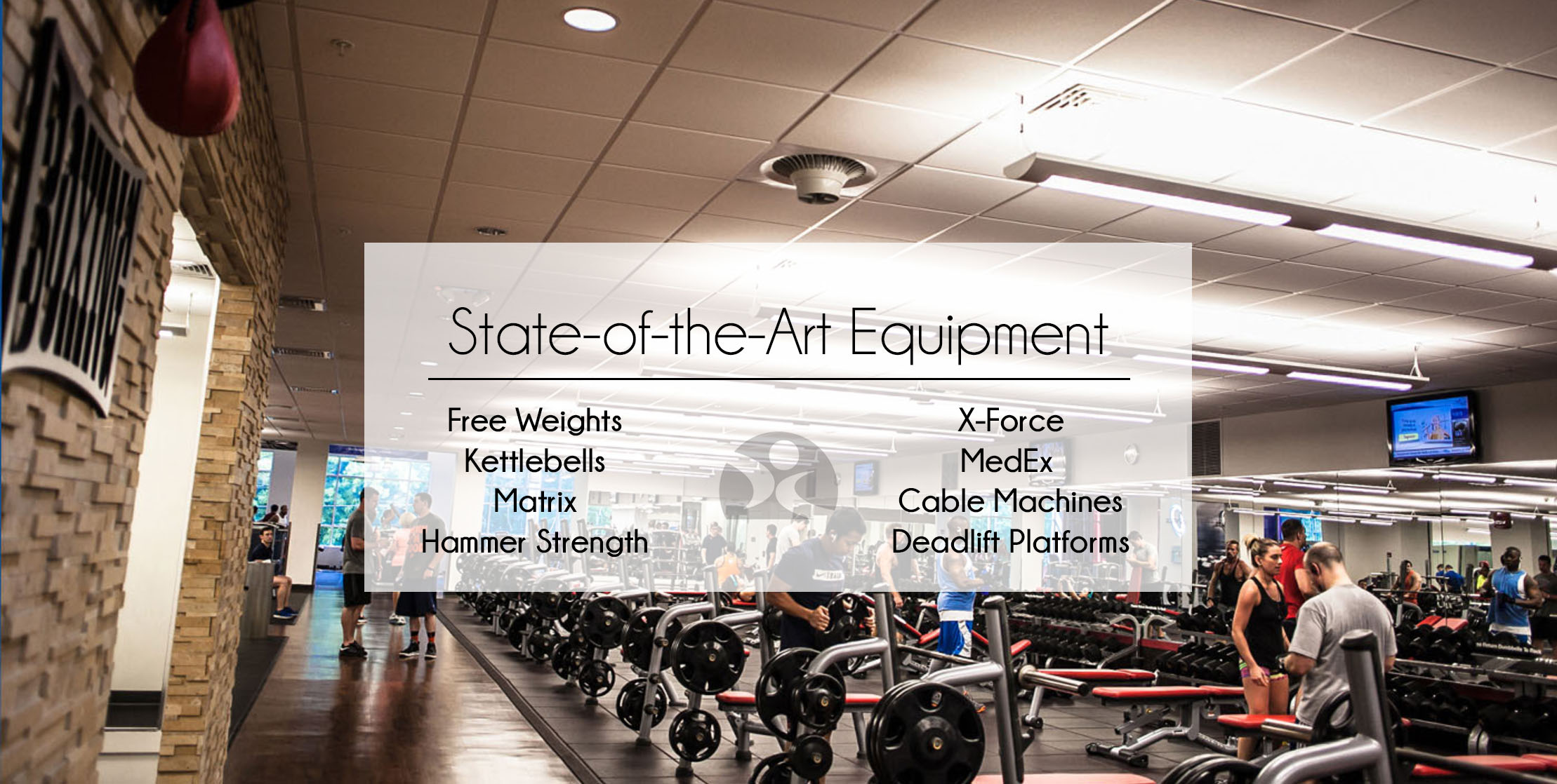 Free weight area at GHF