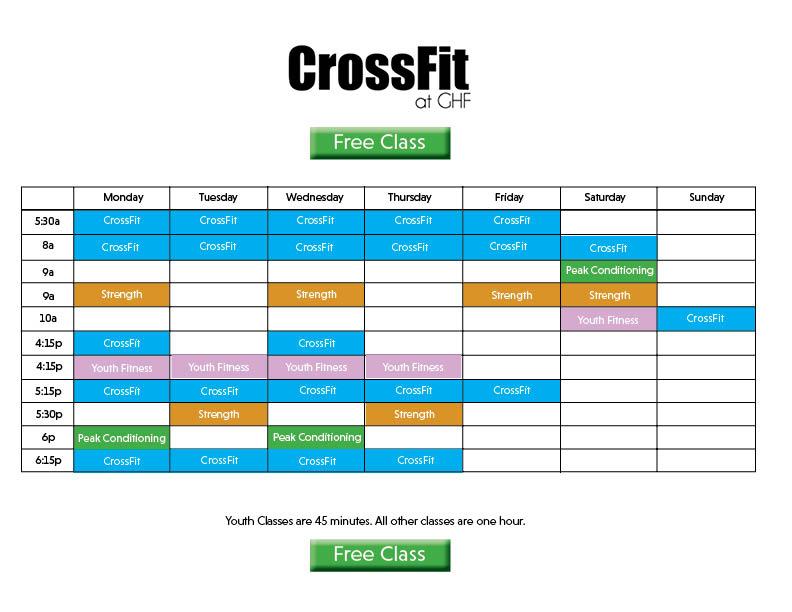 CrossFit Schedule