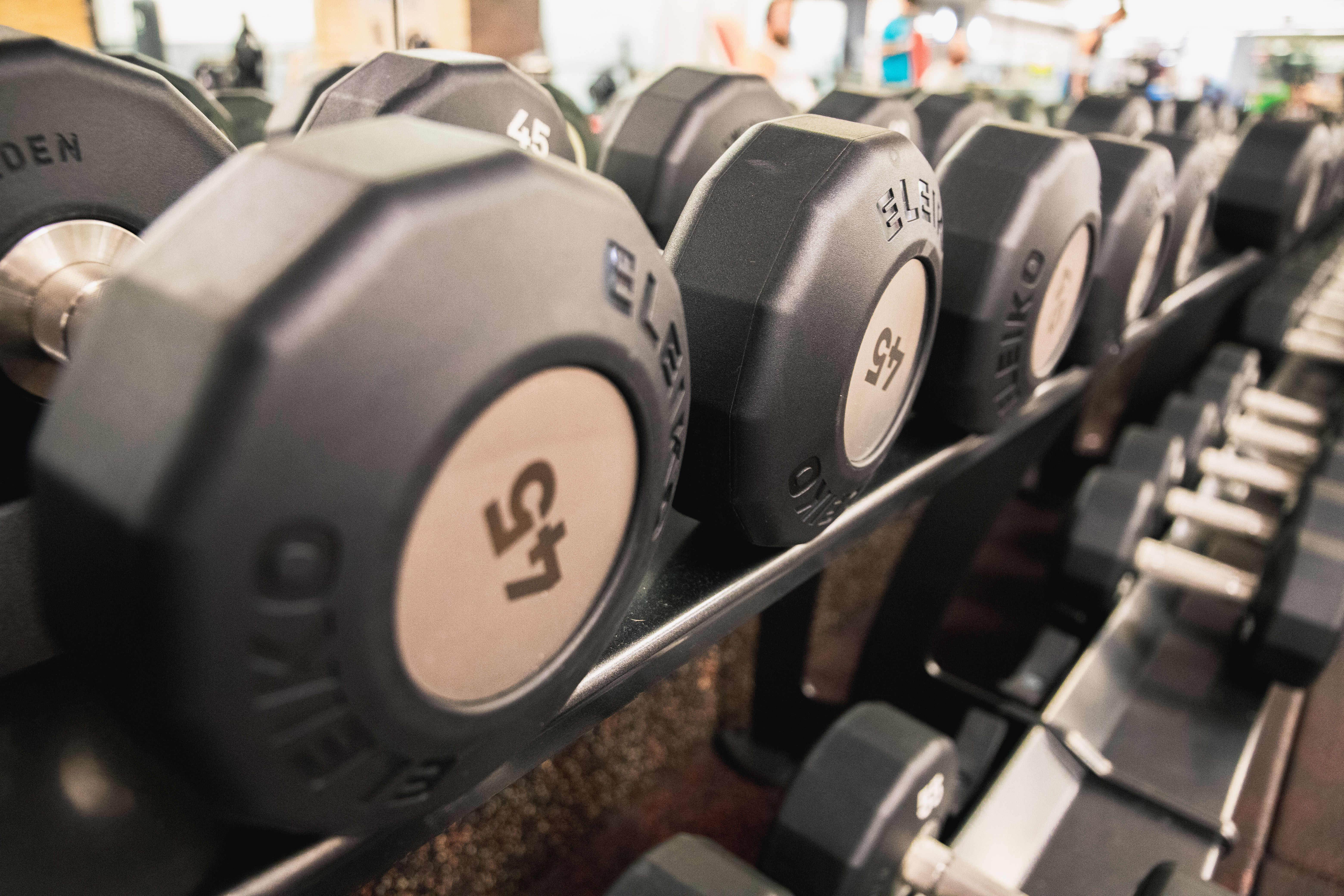 dumbbells strength gym