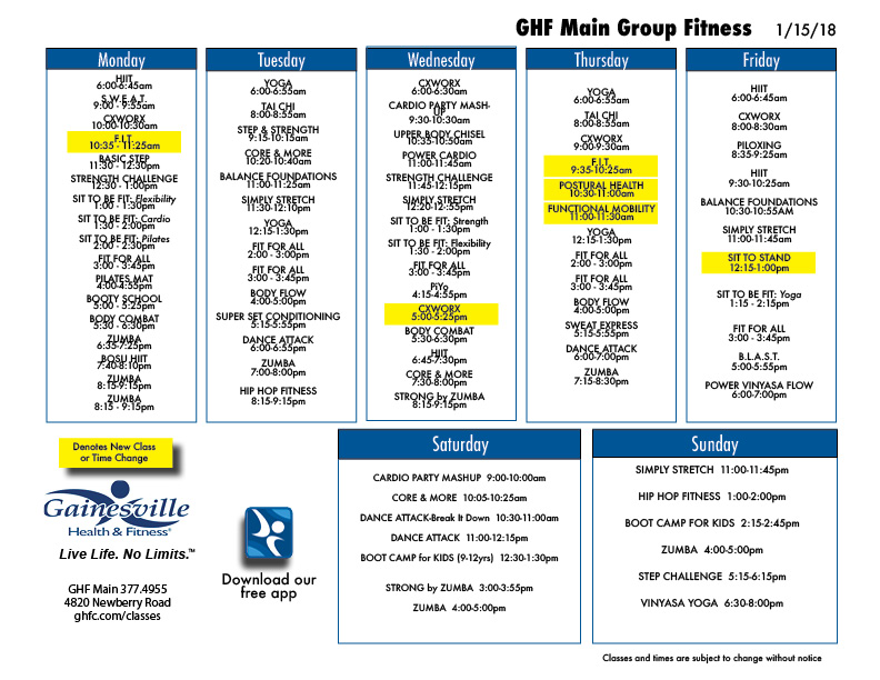 Group Classes for Main