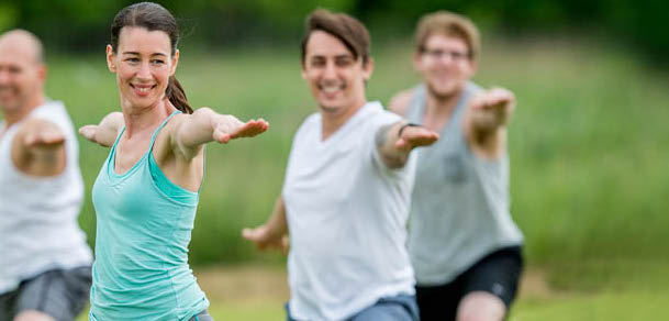 Outdoor class group fitness