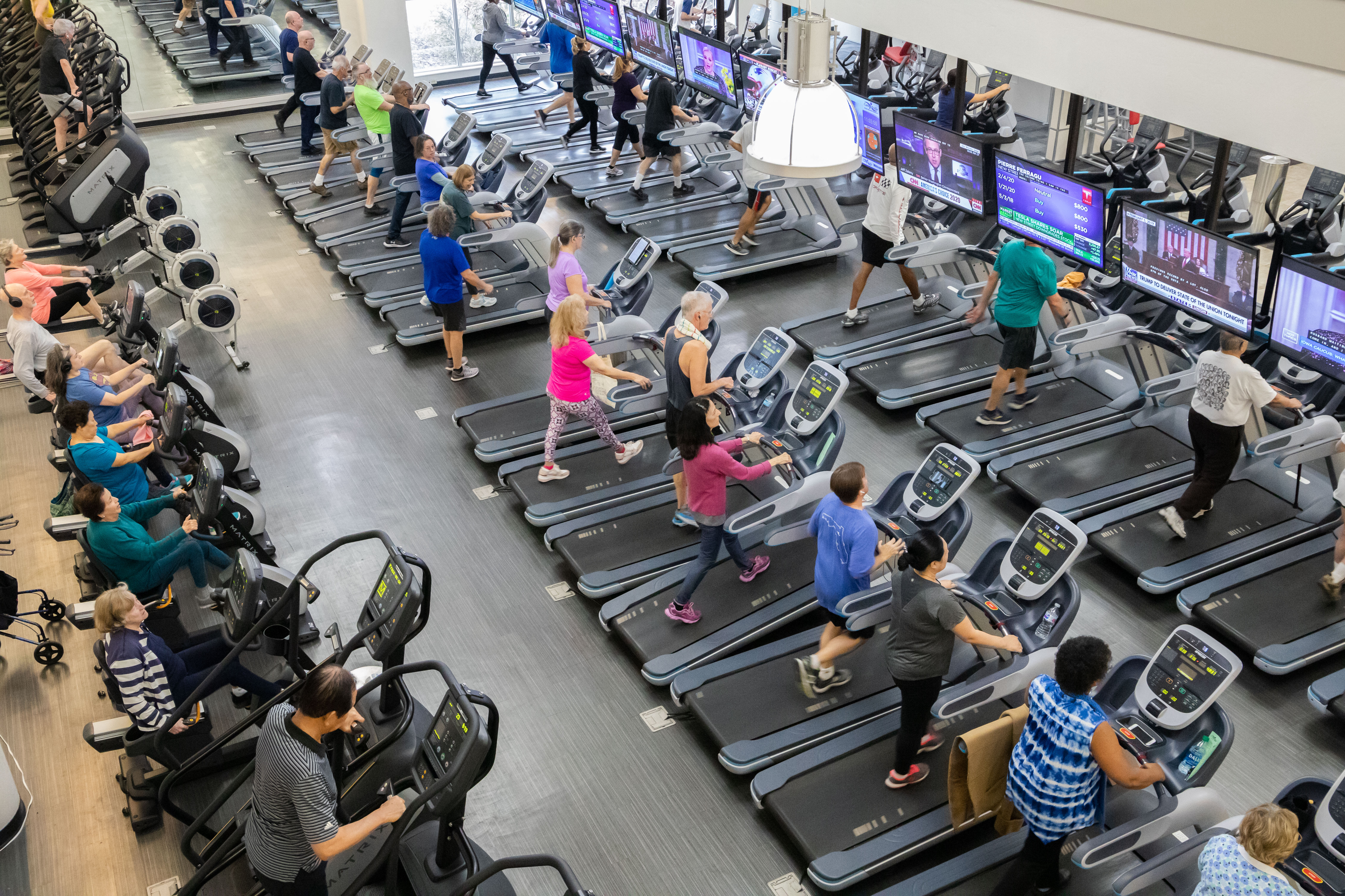 cardio exercise floor at gainesville health & fitness