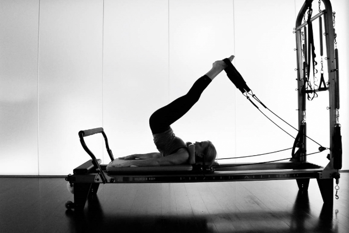 Pilates Pose in Studio