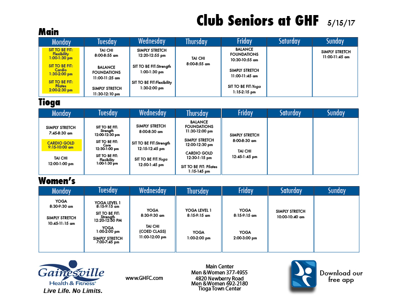 Club Seniors Classes
