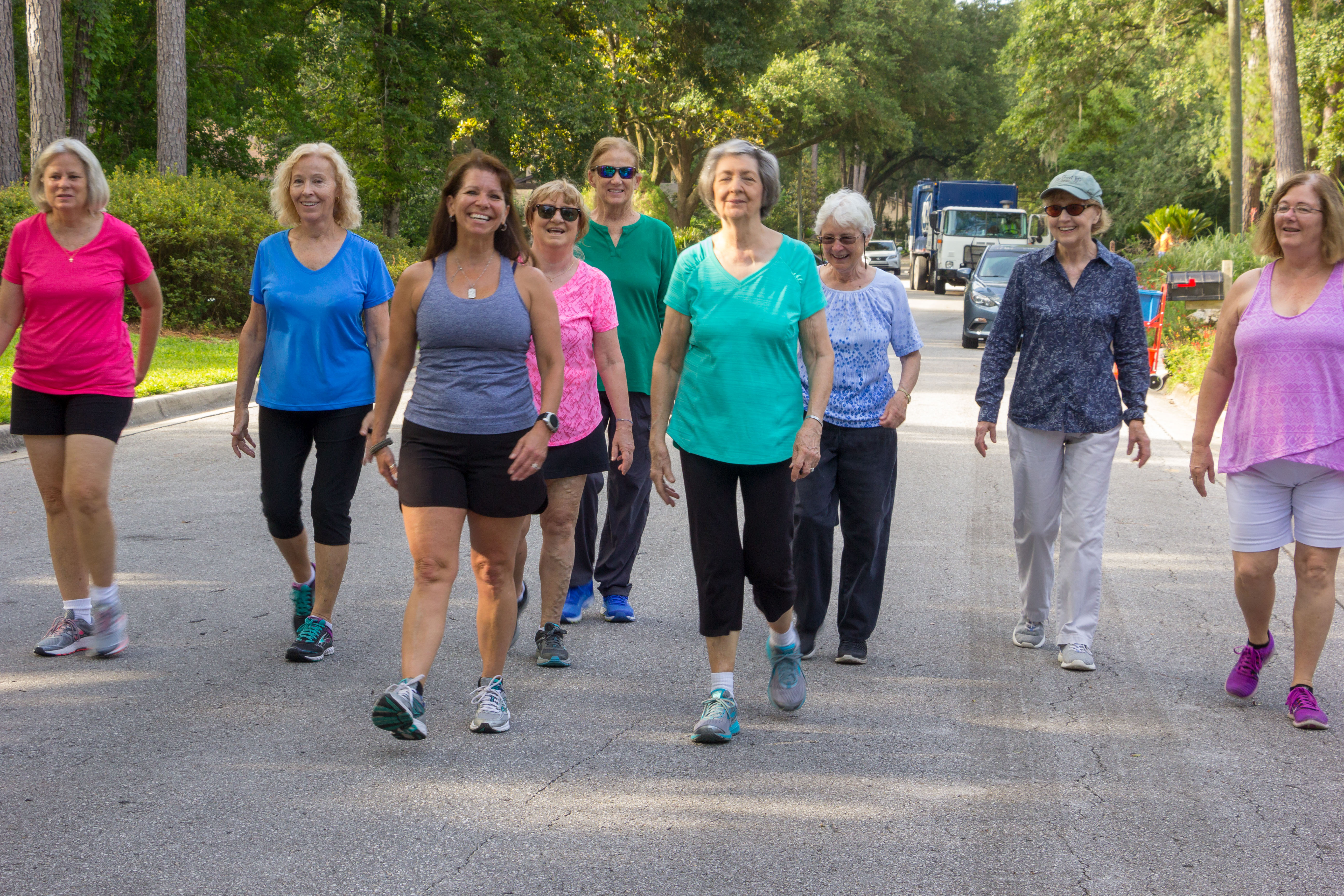 outdoor group class