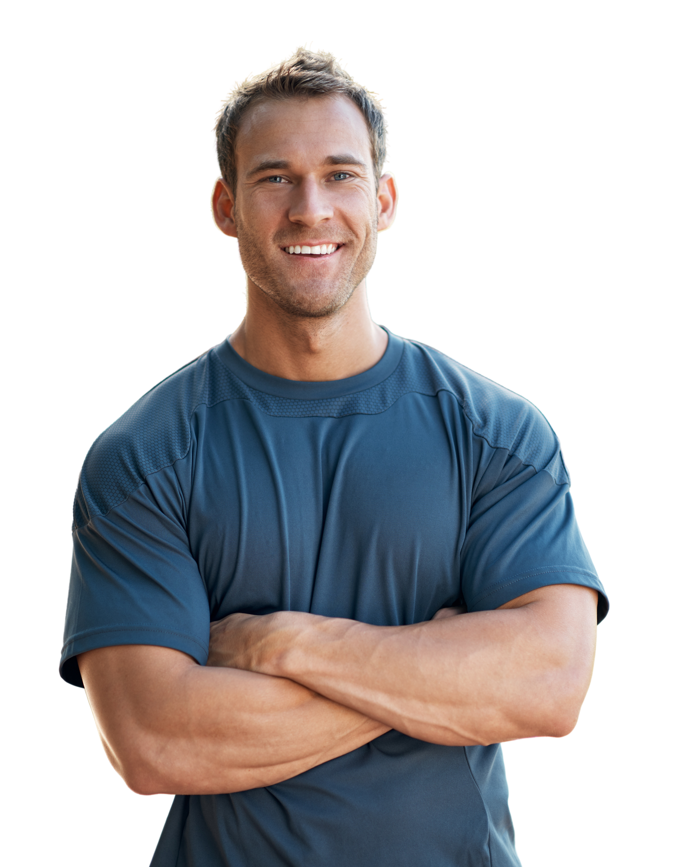 man working out smile ghf