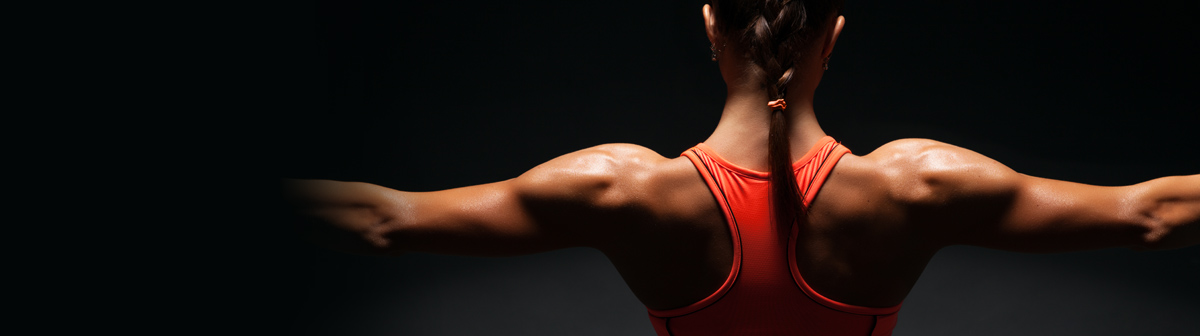 fit woman's back and shoulders